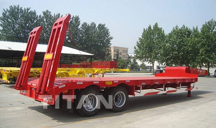 TITAN 2 axle low bed trailer with spring ramps