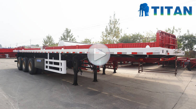 3 gandar 40ft trailer flatbed kontainer