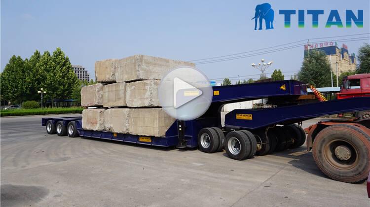 150 ton low loader 3 baris 6 as Trailer Lowbed dengan dolly