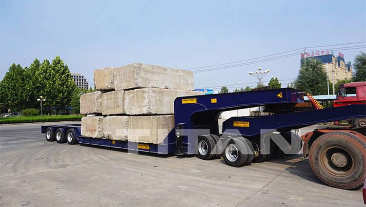 3 baris 6 gandar uji pemuatan truk tempat tidur rendah