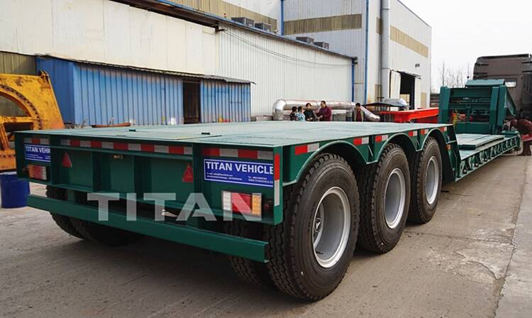 3 axles lowboy trailer for Zambia