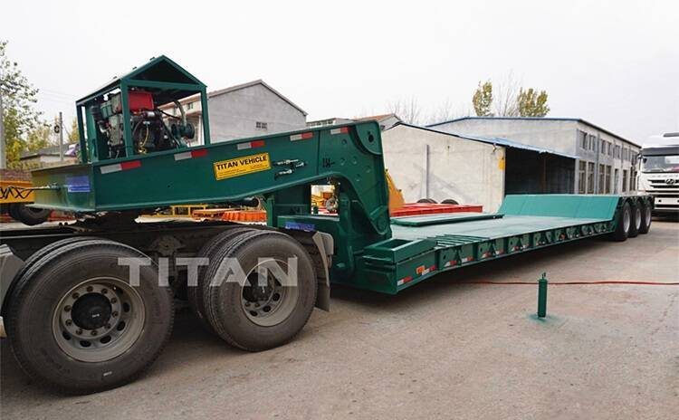 80tons heavy equipment lowboy trailer for sale