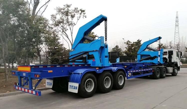 Trailer pengangkat sisi kontainer 3 gandar 40ft dari TITAN Vehicle