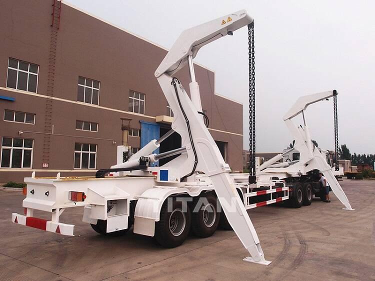Trailer kontainer 3 as roda dengan derek untuk dijual