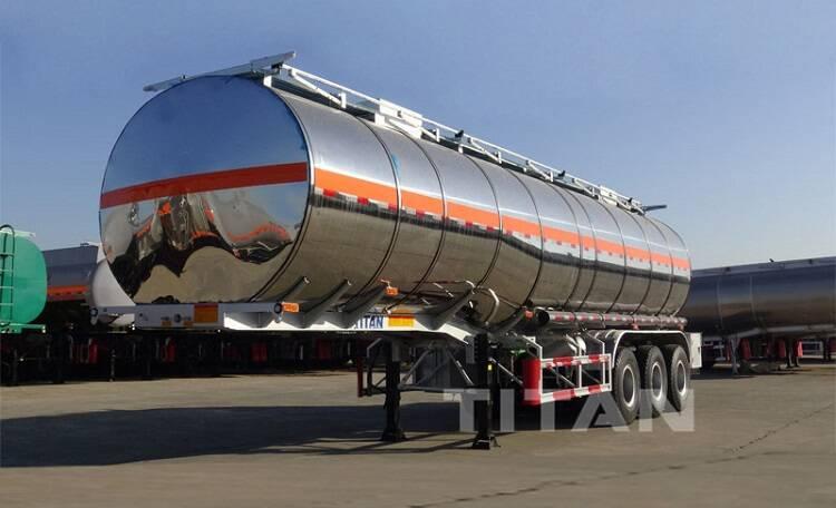 Camión cisterna de aceite de acero inoxidable