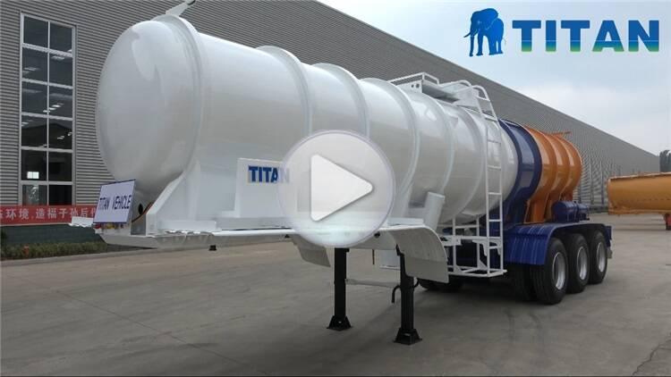 Remolque de camión cisterna líquido químico de 20cmb