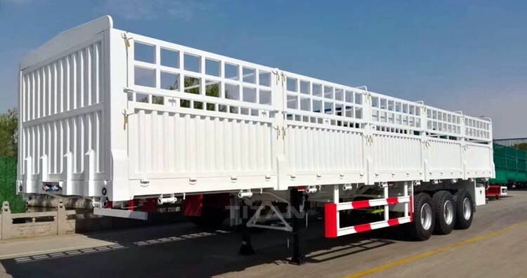3 Axle Livestock Trailer | 60 Tons Stake Semi Trailer for Sale