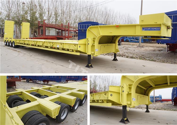 120 ton truk trailer tempat tidur rendah