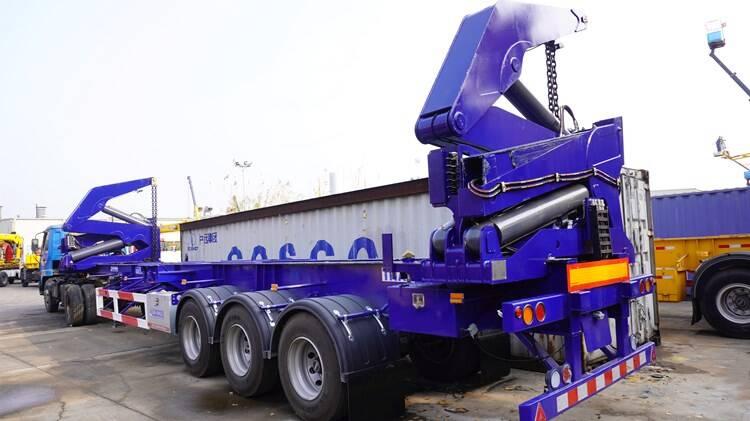 Precio del remolque del cargador lateral del contenedor de 37 toneladas