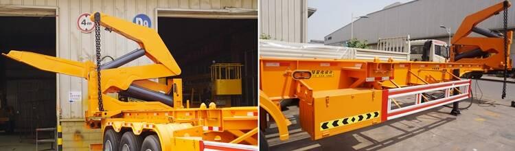 Fabricante de remolques de elevación lateral de 37 toneladas