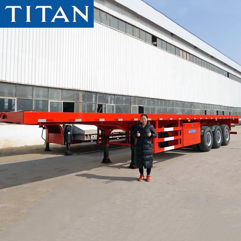 China Remolque plano del tri árbol