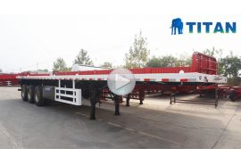 Remolque de plataforma plana para contenedores de 20/40 pies