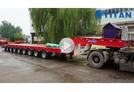 9 axle heavy duty trailer