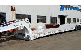 Remolque hidráulico de cuello de cisne de 80 toneladas