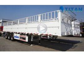 Varios tipos de remolque de carga de estaca