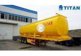 Remolque de plataforma plana con tanque de aceite 44000L