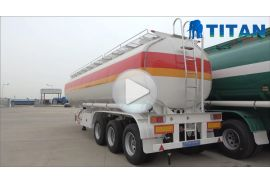 3 axles fuel tank trailer