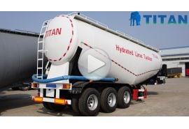 Remolque cisterna de cemento de 3 ejes