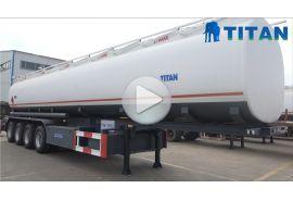 Remolque tanque de combustible de 4 ejes