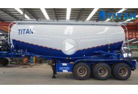Berbagai jenis trailer tanker bubuk