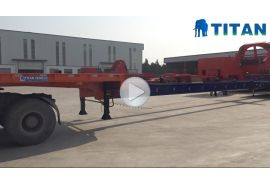 4 axles 56 meters extendable wind blade trailer