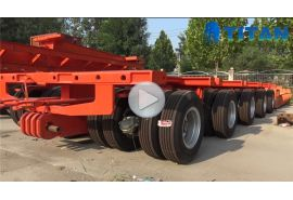 3 baris 6 axles Lowbed Trailer dengan 2 baris 4 axles dolly