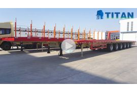 6 axle 62m extendable wind blade trailer